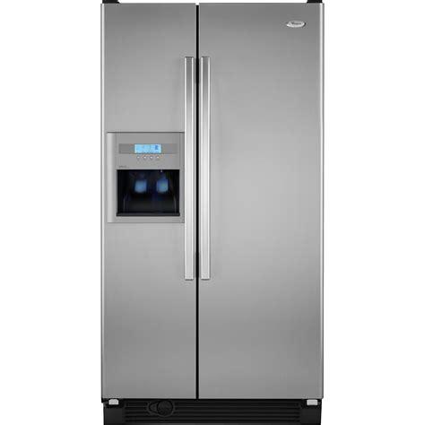 whirlpool 25 cu ft refrigerator door whirlpool 25 5 cu ft side by side refrigerator w in