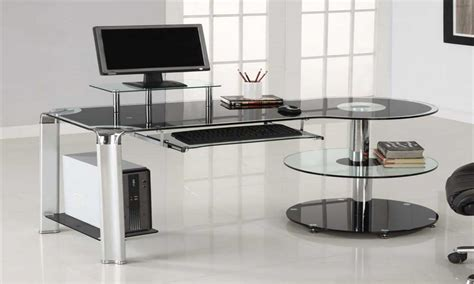 glass computer desk modern modern glass computer desk trendy glass modern computer
