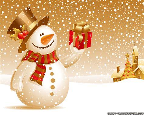 christmas snowman wallpapers crazy frankenstein
