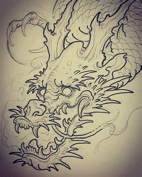 tattoo dragon book part of a dragon for today i m going to draw the rest on