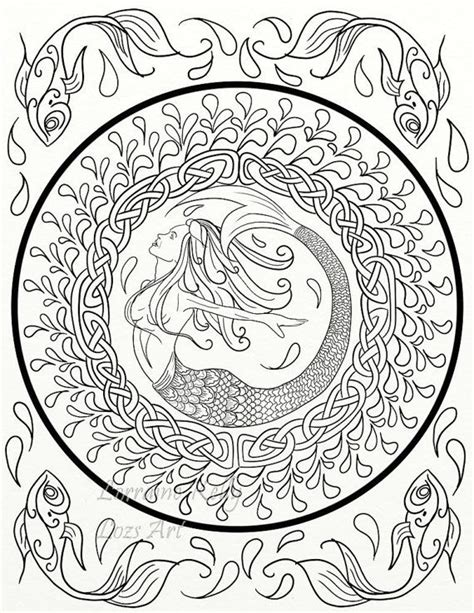 mermaid mandala coloring pages 938 best adult colouring under the sea fish mermaids