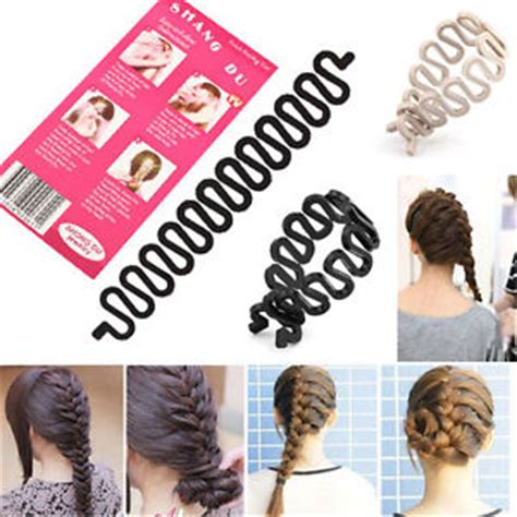 Twist Hairstyle Tools Clip Black And White by Hair Braiding Tool Roller With Hook Hair Twist