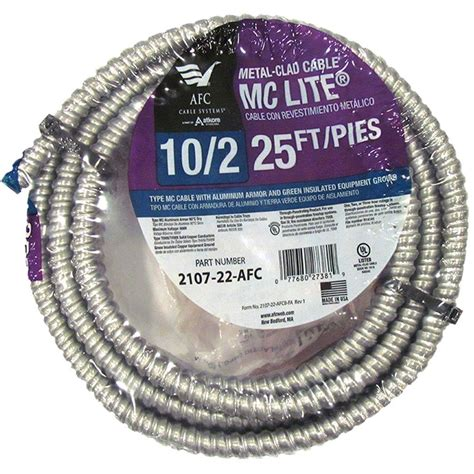 10 2 mc cable 1000 ft afc cable systems 10 2 x 50 ft bx ac 90 armored