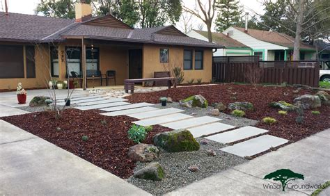 How To Landscape Your Front Yard Winsol Groundworks Sacramento Landscaping Zero Drought