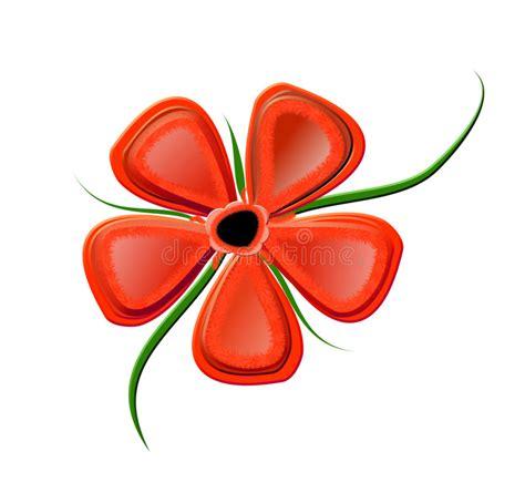 clipart fiore fiore rosso illustrazione di stock illustrazione di curva