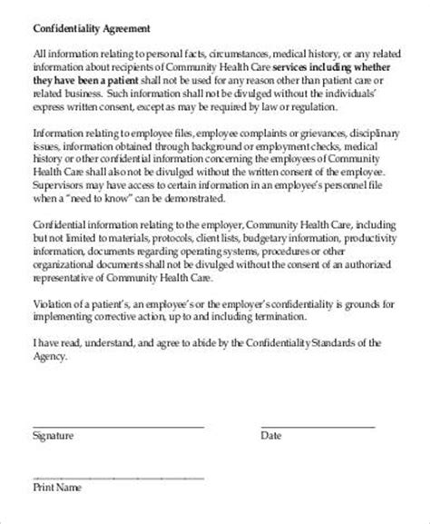 patient confidentiality agreement template confidentiality agreement in pdf