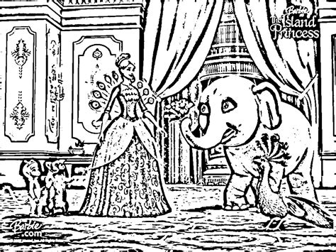 island princess coloring page barbie as the island princess coloring in pages