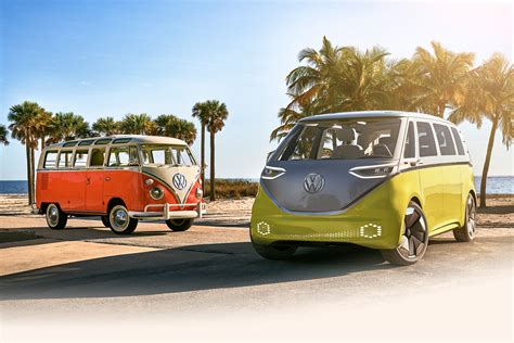 volkswagen minibus electric it s official the vw bus is back and it s electric