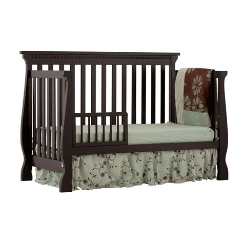Crib Roll by 4 In 1 Fixed Side Convertible Crib In Black 04587 13b