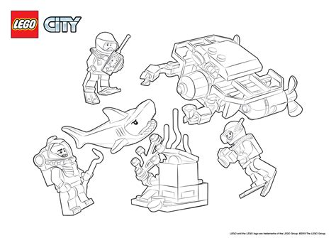 lego boat coloring pages 60091 deep sea starter set colouring page lego 174 city