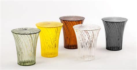 Table Top Radios Tabouret Sparkle Plastique Cristal Kartell