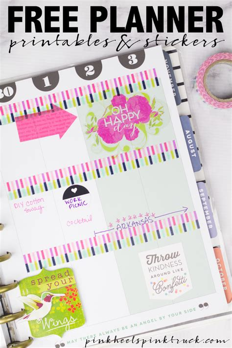 girly daily planner printable 15 free planner printables stickers taylor bradford