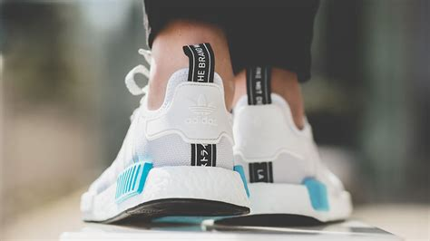 adidas nmd  white blue  sole supplier