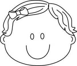 coloring page of boy face images