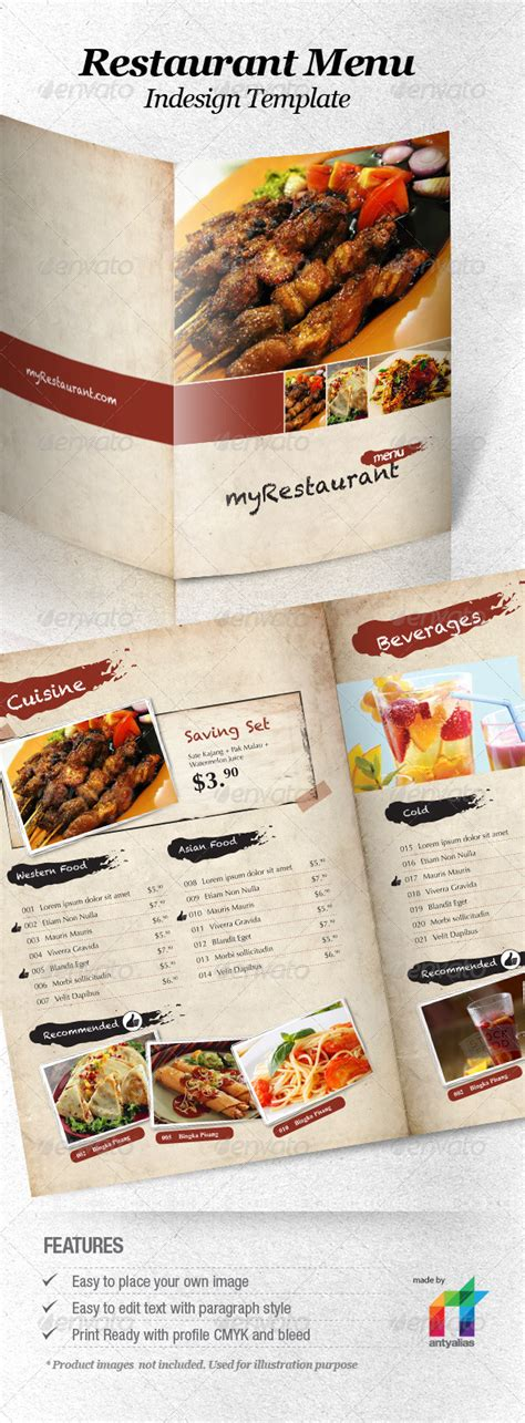 10 Best Selling Menu Templates For Restaurants Premiumcoding Restaurant Menu Template