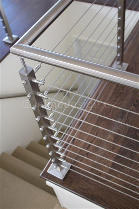 Stainless Steel Railing Modern Staircase Seattle