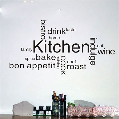 Wall Sticker Murals kitchen text vinyl wall quote kitchen wall sign decal