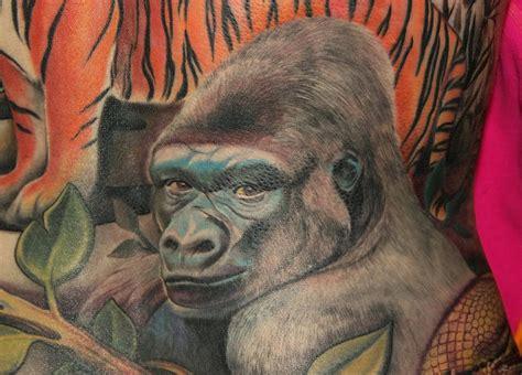 silverback tattoo silverback gorilla on back