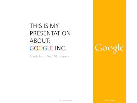 Google Inc Powerpoint Template Yellow Presentationgo 2014 Powerpoint Templates