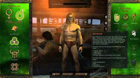 Age Of Conan Unchained Race Class F P Combos Overview And Character Creator Youtube