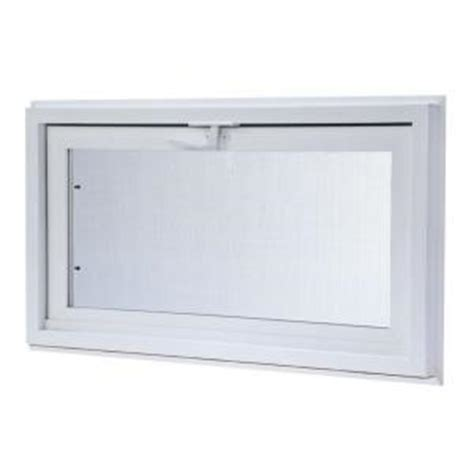tafco windows 31 75 in x 13 75 in hopper vinyl screen