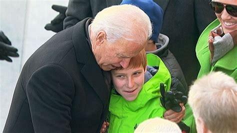 creepy hugs joe biden gets a bit too close to new secretary of defense