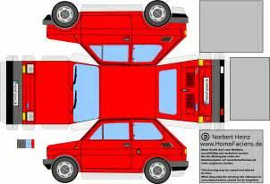 paper cars template fiat 126 car paper craft fiat 126