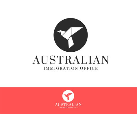 australian immigration bureau serio profesional logo design for australian immigration