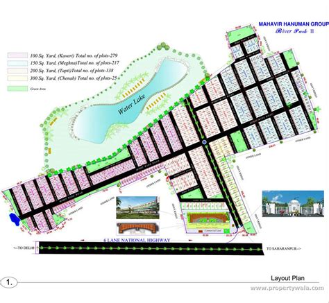layout plan of land river park ii delhi road baghpat residential plot