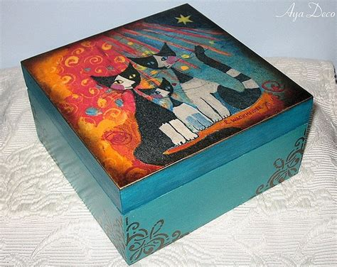 How To Decoupage A Box - decoupage box do it yourself