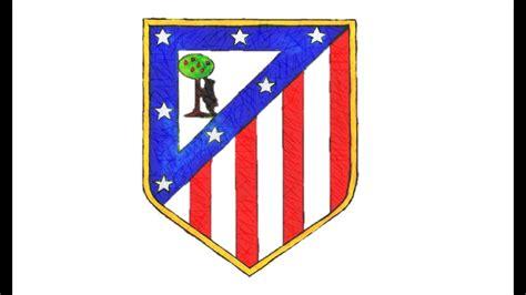 escudo atletico de madrid para imprimir imagui como desenhar o escudo do atl 233 tico de madrid ca how to