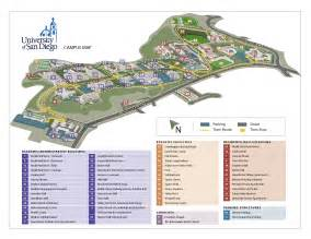 Uc San Diego Map by University Of San Diego Campus Map University Of San