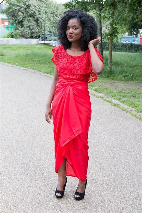 wedding glam 4 tulip iro buba style fabric express red guipure lace by zerefashionhouse on