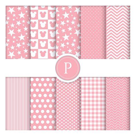 papel decorado 10 fls papel decorado p scrapbook minie rosa a4 180 gr r