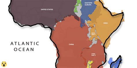 size of africa map the true size of africa