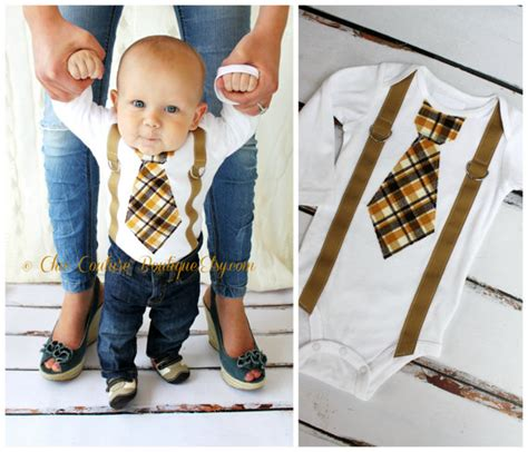 Boys Wardrobe Ideas by S Day Baby Boy Tie And Suspenders Bodysuit 1st