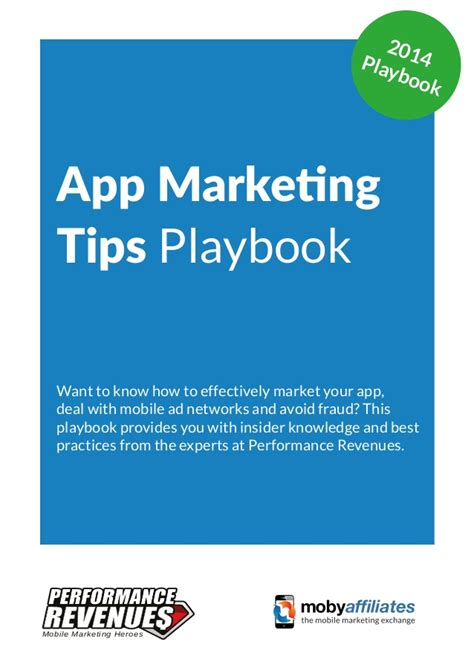 app marketing tips playbook