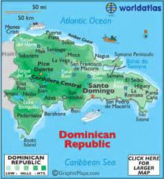 Map Of United States And Dominican Republic by Dominican Republic Map Geography Of Dominican Republic