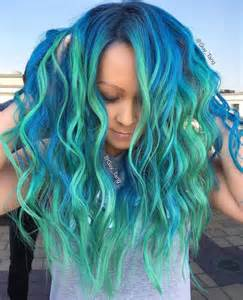 Transitioning Hair Style - mermaid hair trend has women dyeing their hair into magical sea inspired masterpieces