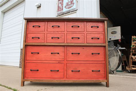 custom made oak 12 drawer chest of drawers by cole