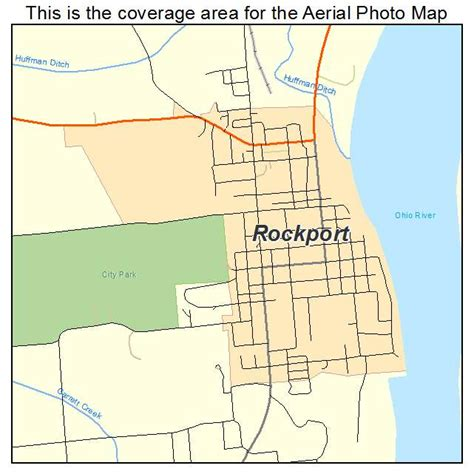 map of rockport aerial photography map of rockport in indiana