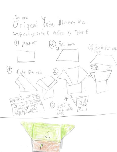 How To Make An Origami Yoda Easy - my own origami yoda origami yoda