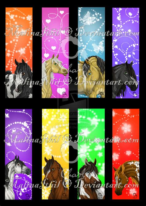 Free Printable Horse Bookmarks | 4 best images of free printable horse bookmarks free