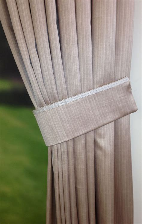 tie drapes tie back with trim to the top curtain tie backs pinterest