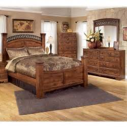 Hardwood Bedroom Furniture Sets 4 Bedroom Set In Brown Cherry Nebraska