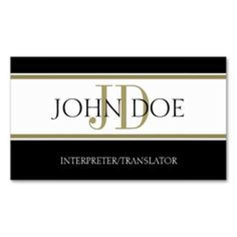 interpreter business card templates translator business cards on business cards