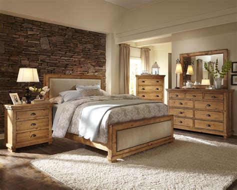 schlafzimmer set holz progressive furniture willow king upholstered bed with