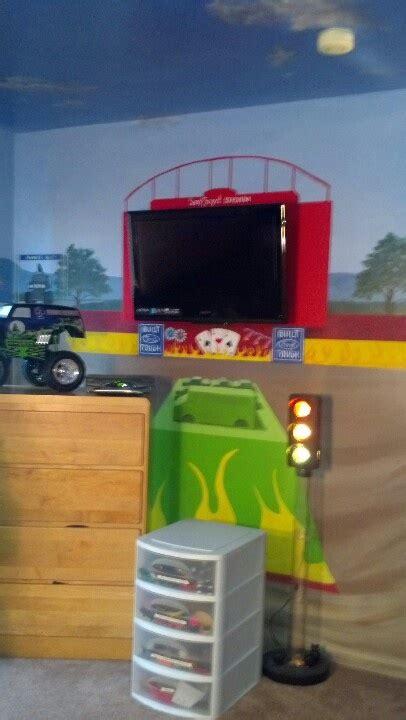 monster truck bedroom artworks by marcine llc monster truck themed room