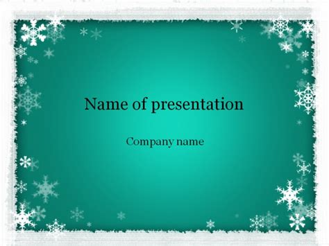 winter powerpoint template free winter powerpoint template for presentation