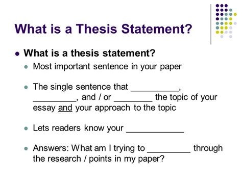 define dissertations thesis statements definition of a thesis statement ppt